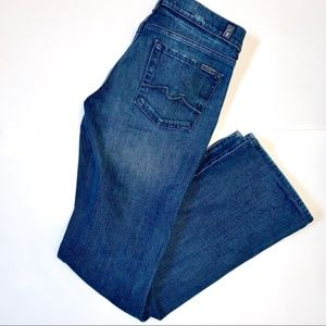 7 For all Mankind Dark Wash Distressed Bootcut